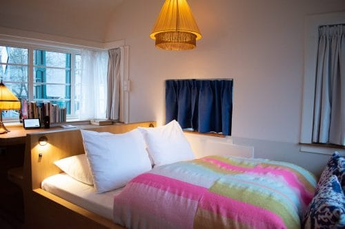 Photo of SWEETS hotel Amsterdam West bridge house Kinkerbrug hotel room interior bed cosy hotel room bedroom