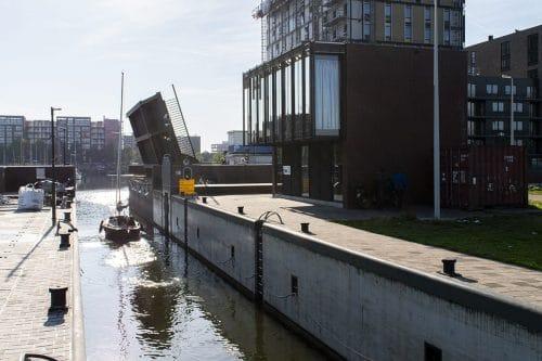 Photo of SWEETS hotel Amsterdam bridge house 211 Sluis Haveneiland IJburg exterior and surroundings harbor