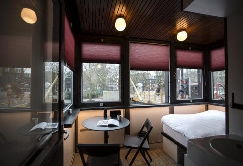 SWEETS hotel Theophile de Bock bridge house on Amsterdam canals - cosy tiny house close to Vondelpark design interior