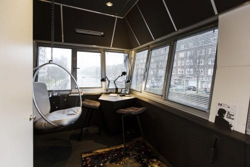 SWEETS hotel Wiegbrug bridge house on Amsterdam canals - design interior with Bubble Chair