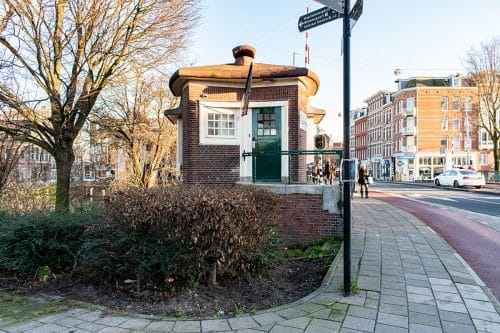 Exterior of SWEETS hotel's bridge house Willemsbrug